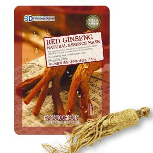 Mặt nạ hồng sâm 3D Foodaholic - Red ginseng natural essence mask