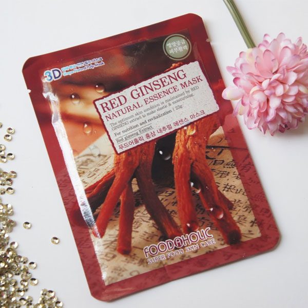 Mặt nạ hồng sâm 3D Foodaholic - Red ginseng natural essence mask