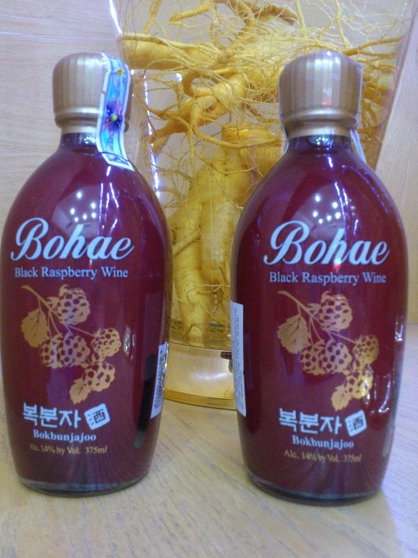 Rượu phúc bồn tử Bokbunjajoo - Bohae Black Raspberry Wine